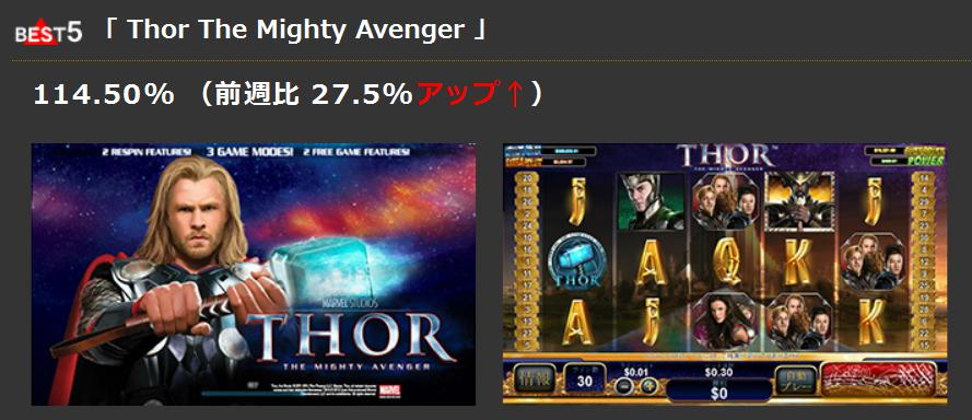 best5「 Thor The Mighty Avenger 」